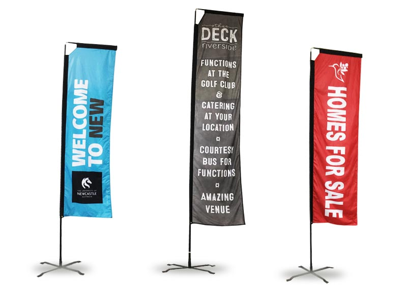 Rectangle Flag For Trade Show Displays Stand Up Banner